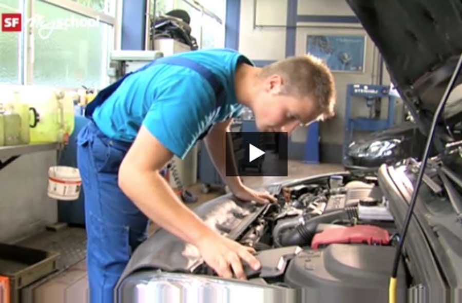 Automobil-Mechatroniker/in EFZ – Film mit Porträt eines Lernenden