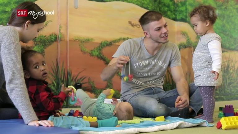 Fachmann/Fachfrau Betreuung (Kinderbetreuung) EFZ  – Film mit Porträt eines Lernenden