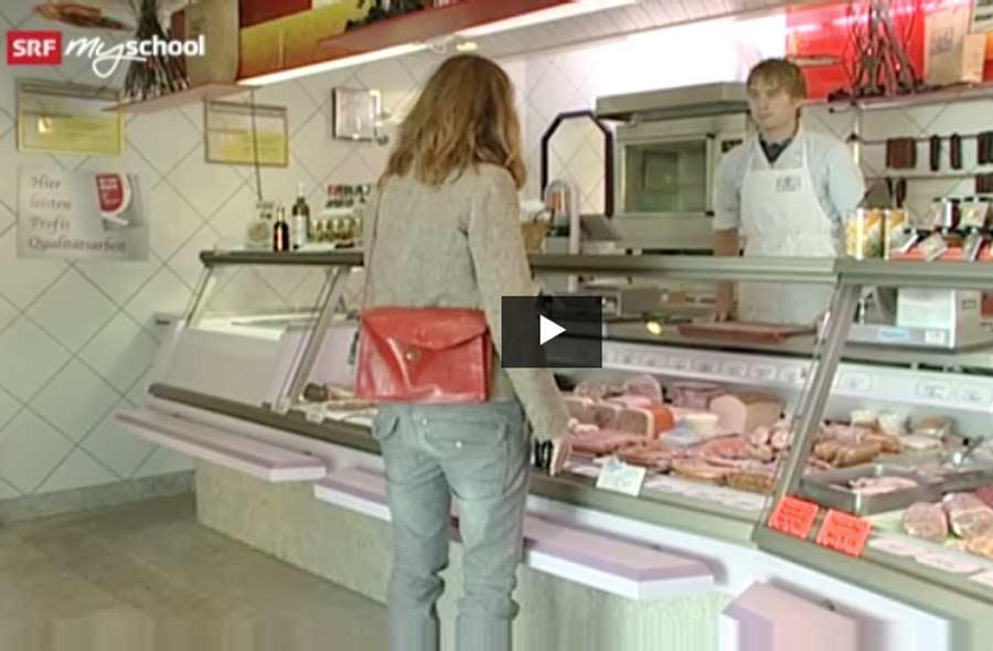 Fleischfachmann/-fachfrau EFZ – Film mit Porträt eines Lernenden
