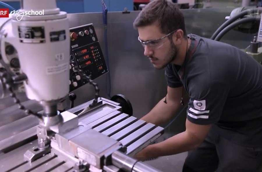 Polymechaniker/in EFZ – Film mit Porträt eines Lernenden