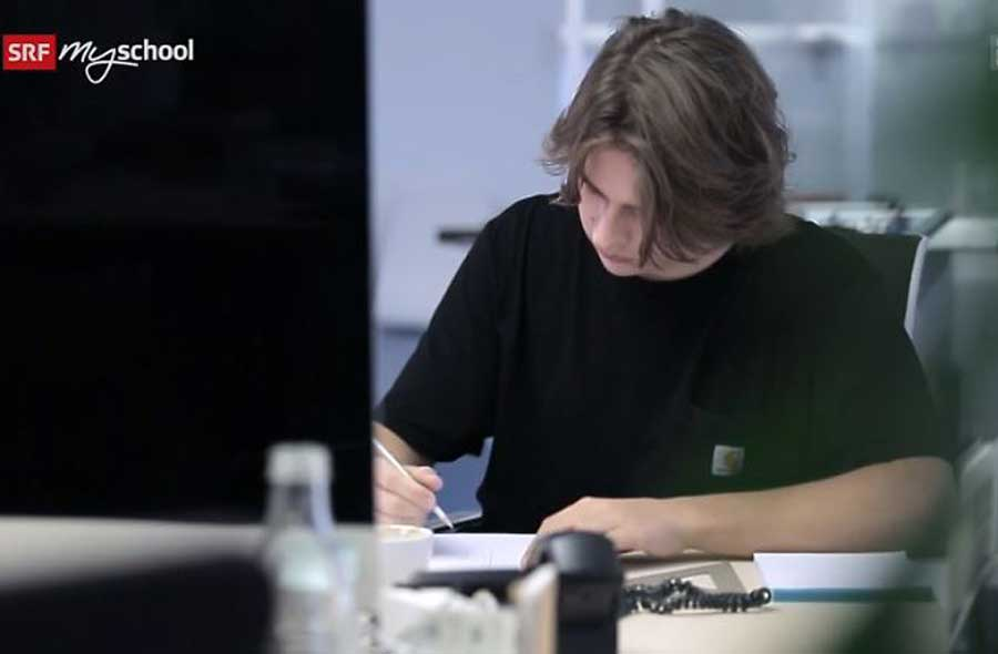 Grafiker/in EFZ – Film mit Porträt eines Lernenden