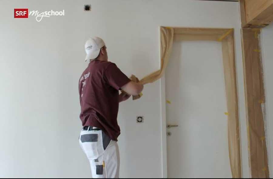 Malerpraktiker/in EBA  – Film mit Porträt eines Lernenden