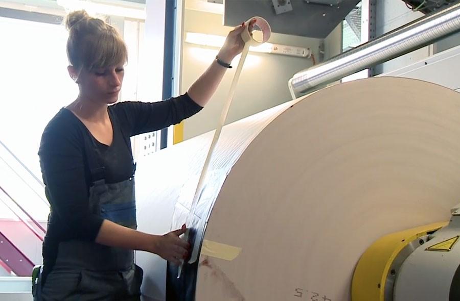 Medientechnologe/-login (Print) EFZ – Film mit Porträt einer Lernenden